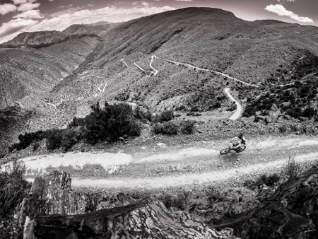 Mountain bikers take part in the HELL & BACK 2015 MTB Challenge from Oudtshoorn to Gamkaskloof or Die Hel, near Prins Albert in the Klein Karoo, Western Cape, RSA
